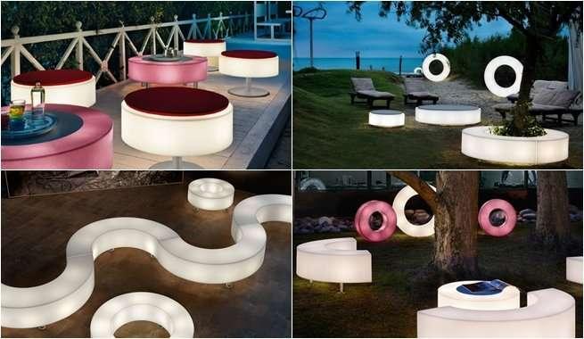Tendencias: muebles iluminados para decoración futurista